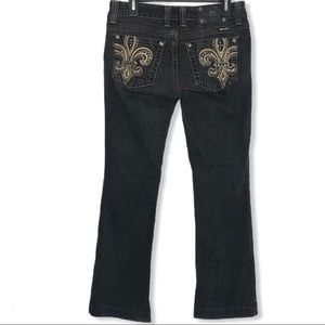 Miss Me Fleur De Lis Pocket Jeans